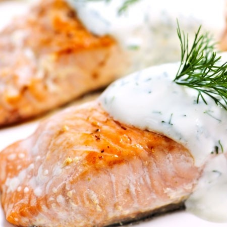Seared Salmon With Creamy Dill Sauce Recipes — Dishmaps