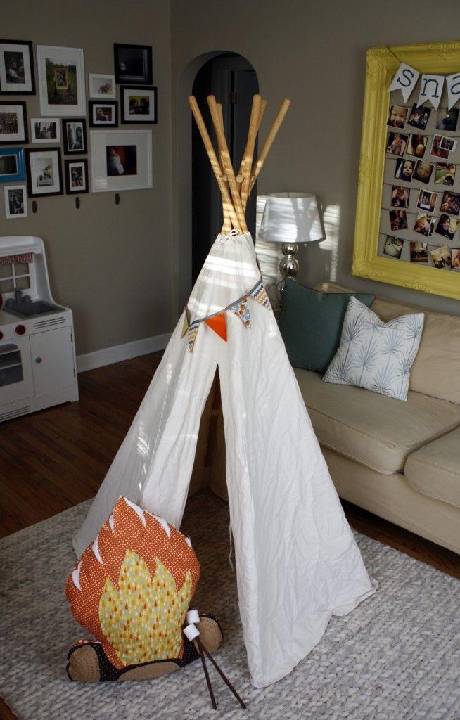 Love the camp fire pillow!!
