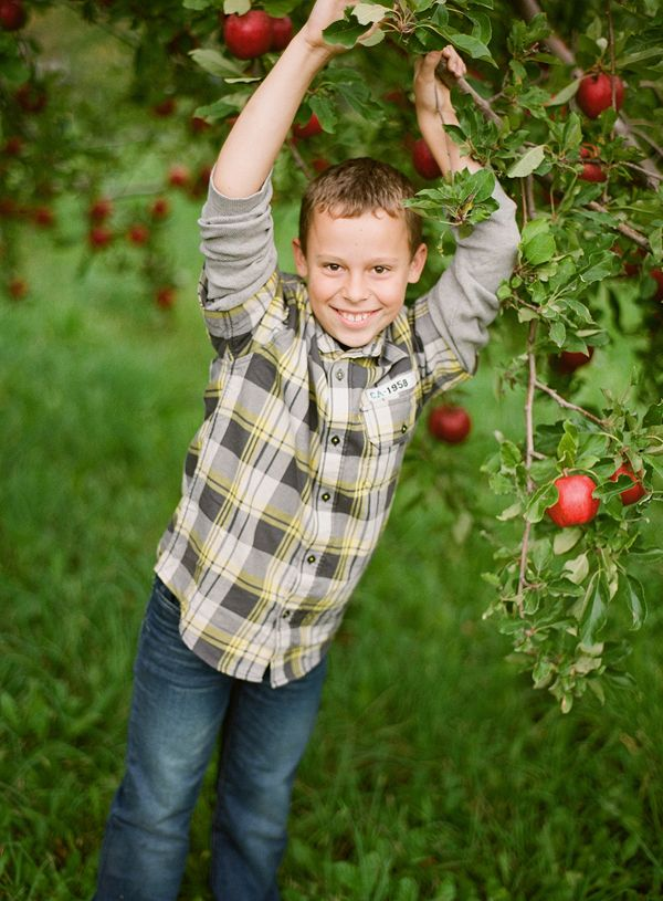Beautiful c family pictures in the apple orchard walla walla