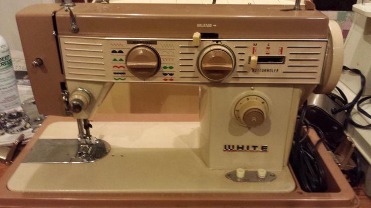 white machine sewing machine