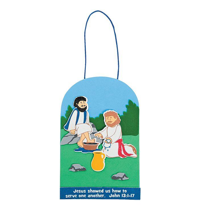 Jesus Washed Disciples Feet Craft Kit - OrientalTrading.com