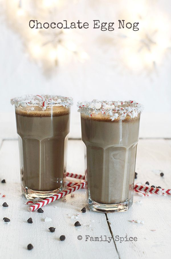 Bottoms Up with Chocolate Egg Nog by Family Spice