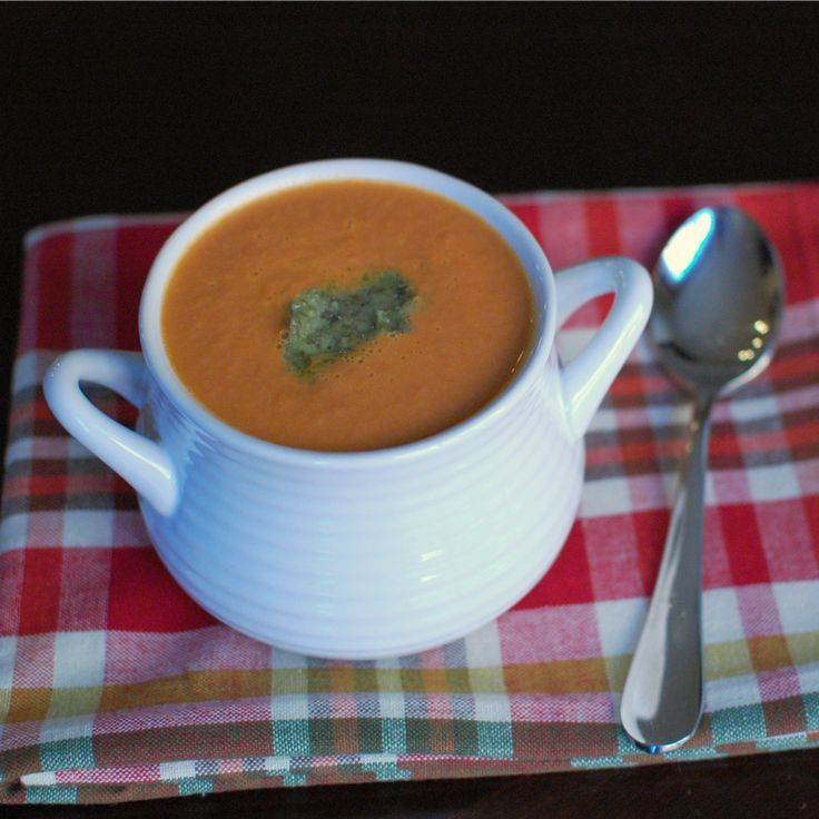 Creamy Tomato Soup with Pesto | Recipes to Try | Pinterest
