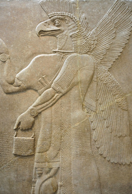 Assyrian Relief Panel at New York Metropolitan Museum of Art