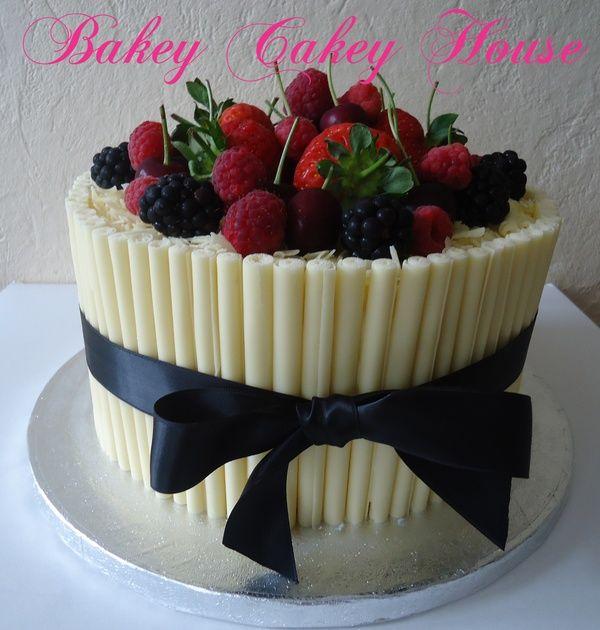 White chocolate cigarello cake | cakes | Pinterest