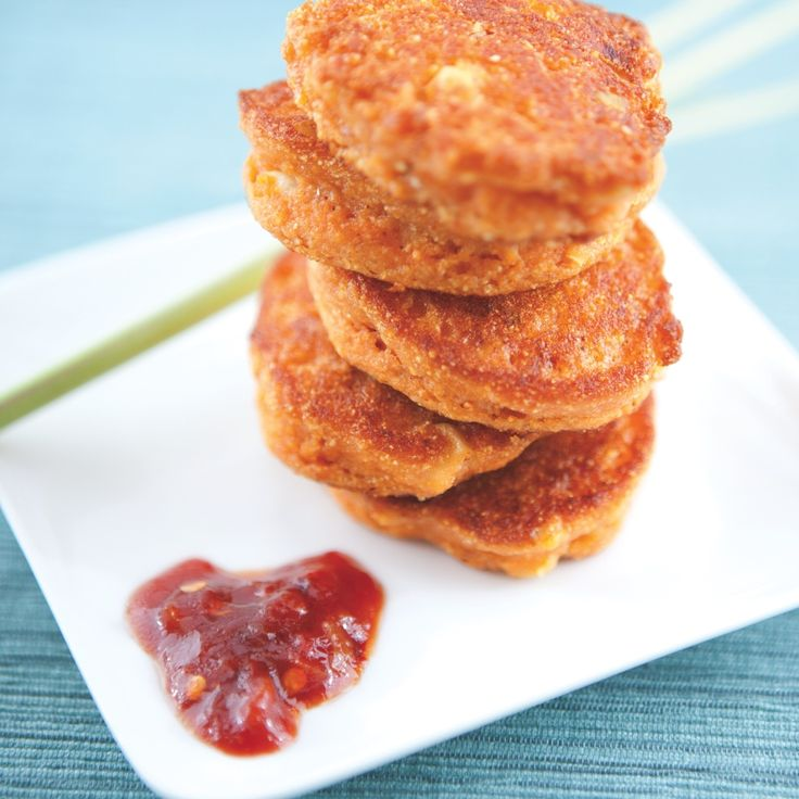 Vegan Spicy Corn Fritters with Lemongrass - from Spork Fed cookbook