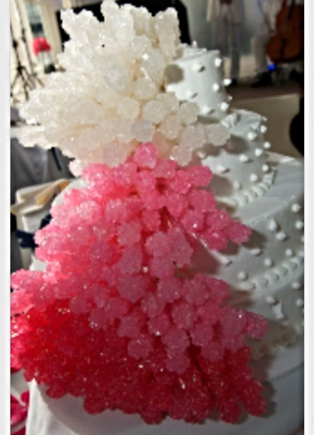 Ombre Wedding Cake With Rock Candy