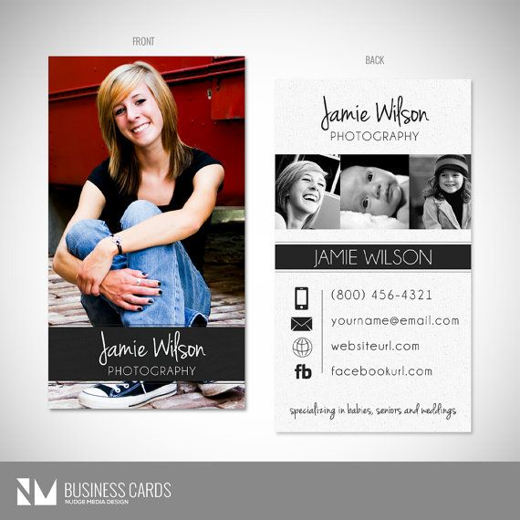 graphy Business Card Template INSTANT DOWNLOAD