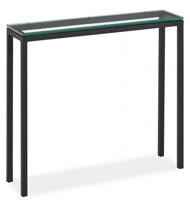 Glass Top Console Table Narrow Pinterest