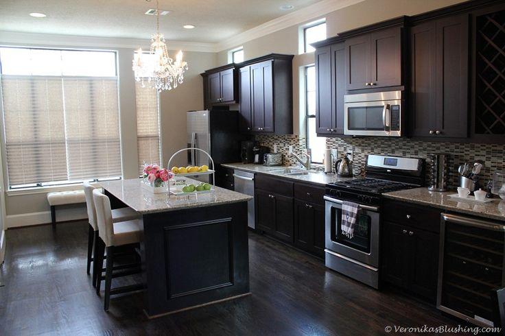 Best Revere Pewter Walls Dark Cabinets Dream Kitchens 400 x 300
