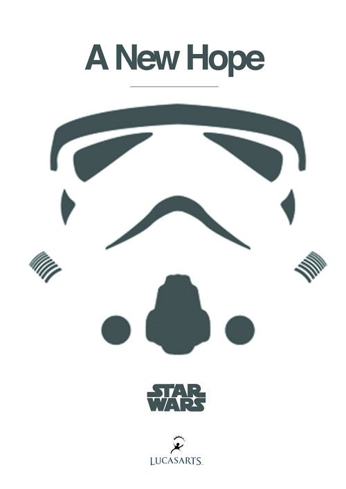 Star Wars Episode IV: A New Hope Minimal Movie Poster by graphicalzingtang