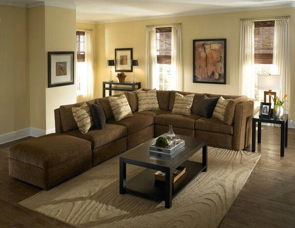 Casual Living Room With Sectional Couch Living Room Pinterest