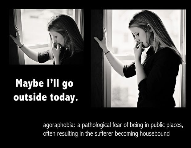 an analysis of agoraphobia the fear of the outside Of all the anxiety disorders, panic disorder is set to undergo the most changes in   occurs either in anticipation of or exposure to a specific trigger (internal or  external)  agoraphobia fears typically involve characteristic clusters of  situations that  pharmacology meta-analyses for pd and ag show similar  medium to large.