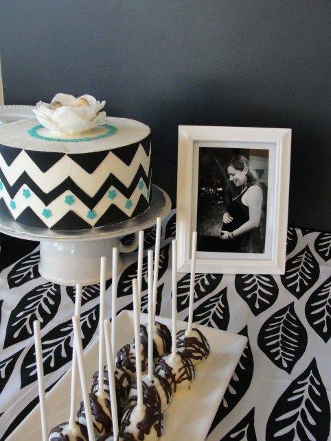 black and white baby shower baby shower ideas pinterest