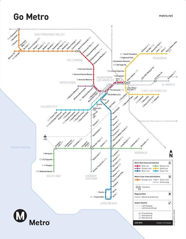 Los Angeles Transit Map  Travel  Pinterest