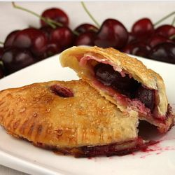 Fresh Cherry Turnovers with Cream Cheese Crust