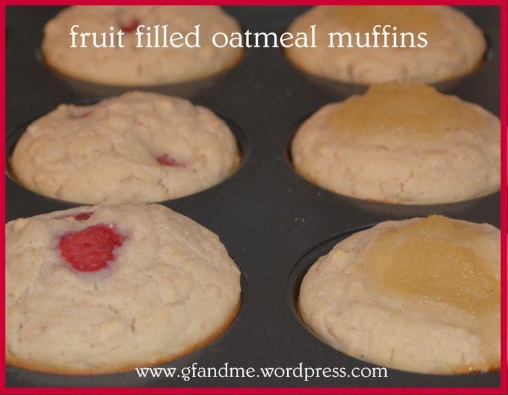 gluten free fruit filled oatmeal muffins | Gluten free | Pinterest
