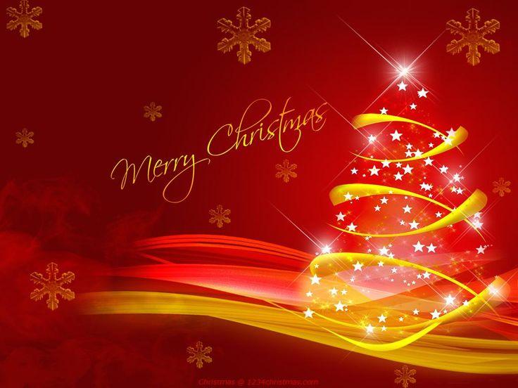 Red Christmas Tree Desktop Wallpaper | Christmas Tree ...