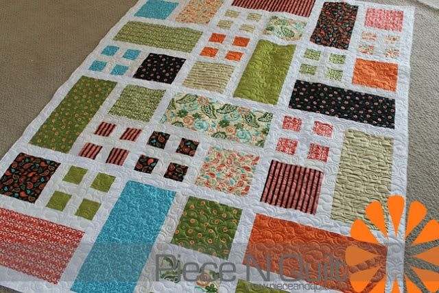 Quilt Patterns Squares And Rectangles : Squares and Rectangles Quilt. Sewing and Quilting Pinterest