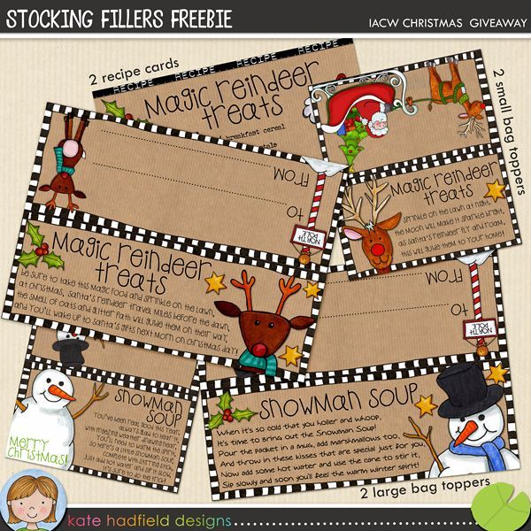 Free printable toppers for bags of Snowman Soup and Magic Reindeer ...