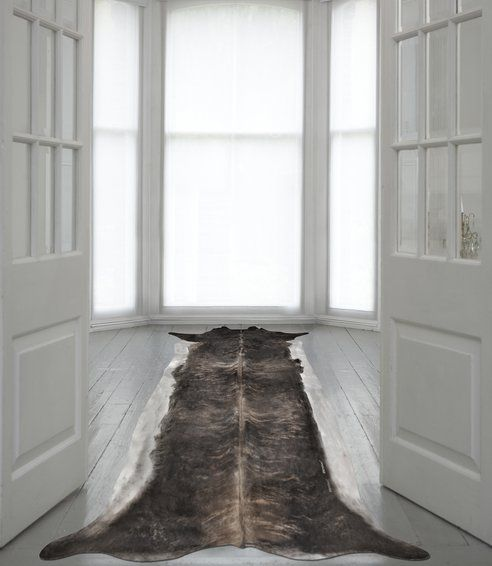 This digital cowhide rug is a stylish, but ethical alternative to a real hide.