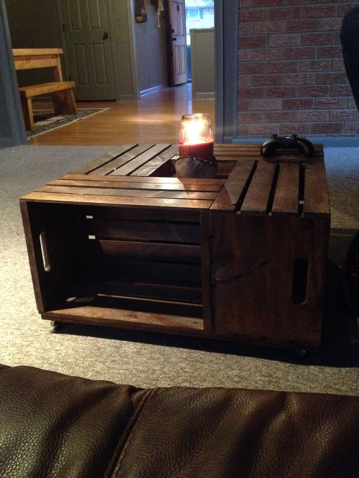 Vintage Coffee Table Made Of Crates Wood Bench Pinterest