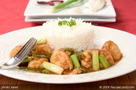 10 Minute Sichuan/Szechuan Chicken from RecipeLand