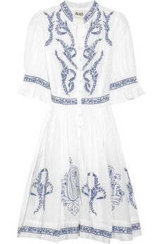 alice by temperley embroidered cotton dress. love.