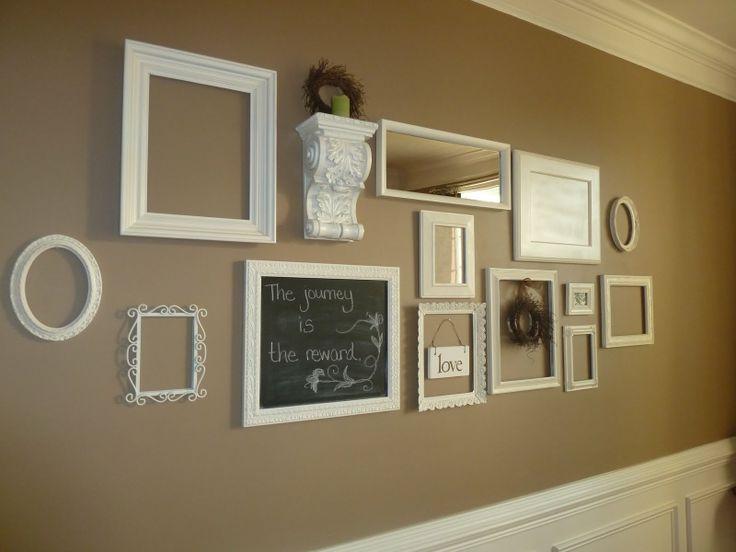 My empty frame, etc. wall | Wall Art | Pinterest