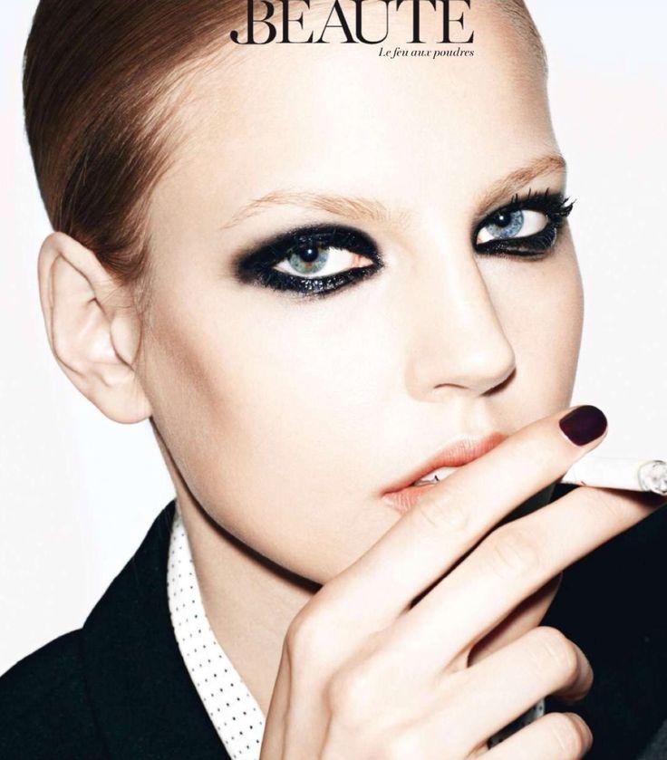 Black messy glossy raccoon eyes | Makeup | Pinterest Raccoon Eyes Makeup