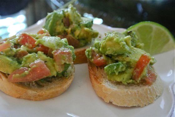 Guacamole Bruschetta | Appetizers | Pinterest