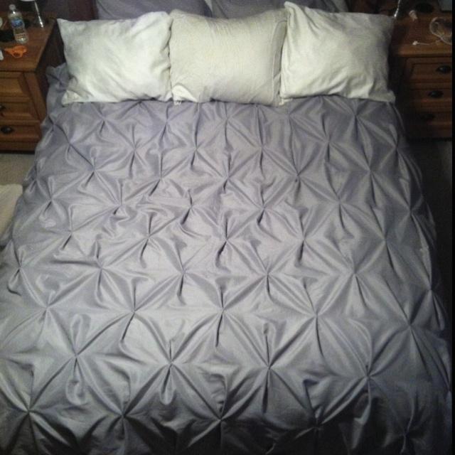 Master Bedroom Pintuck Duvet Cover For The Home Pinterest