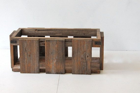 Magazine Crate   Rustic Modern  Wood Crate   by HurdandHoney