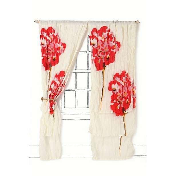 Love these curtains.   Decorate a House   Pinterest