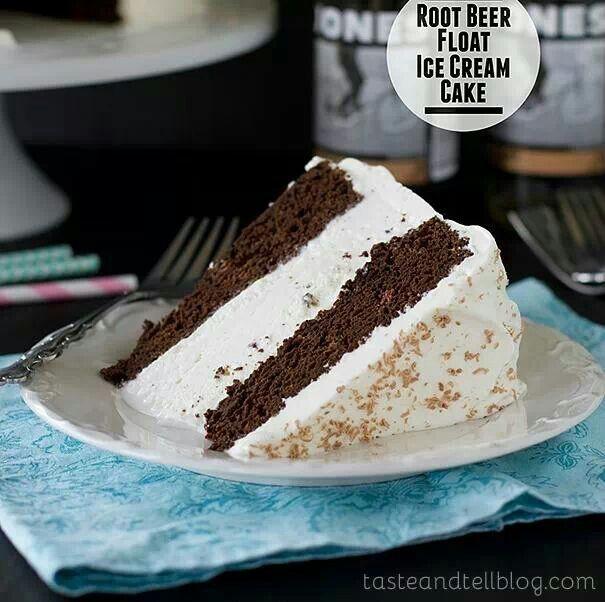 Root beer float ice cream cake | Food ideas | Pinterest