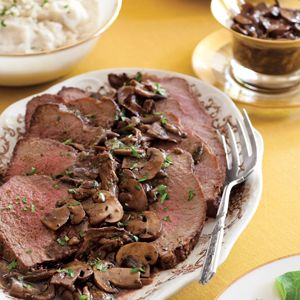 Roast Beef with Wild Mushroom Sauce | Beef~Lamb | Pinterest