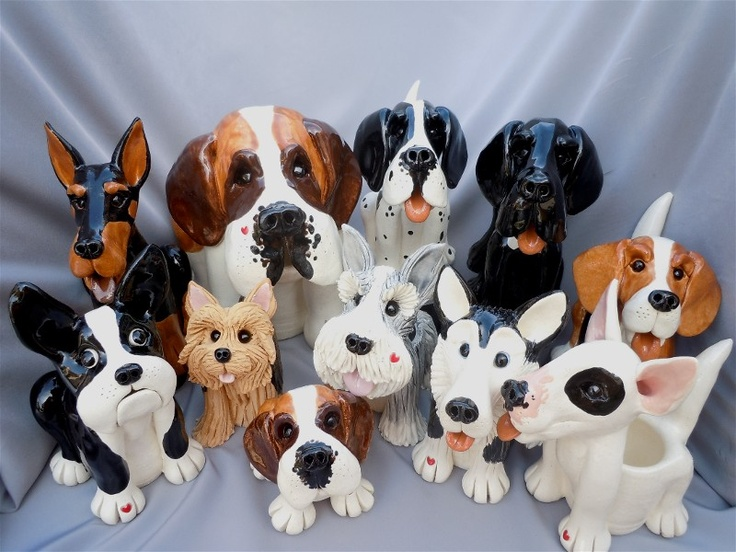 Pence Animal Sculptures (pencepets),  handmade animals are adorably functional - soap dishes, lotion dispensers, toothbrush holders, etc. for the bath; utensil holder, canisters, refrigerator magnets, etc. for the kitchen, business card holder, pencil holder, etc. for the office; even urns to hold the remains of a beloved pet.  Check her out at pencepets.com