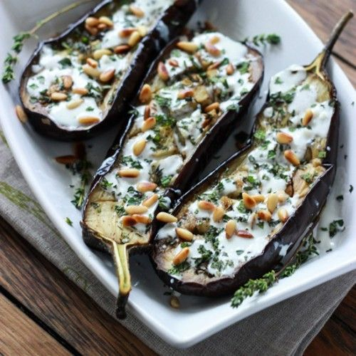 Eggplant with Buttermilk Sauce HealthyAperture.com