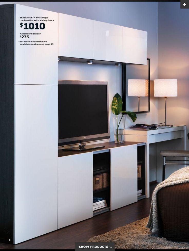ikea sliding door wall unit for tv tv wall mount ideas pinterest