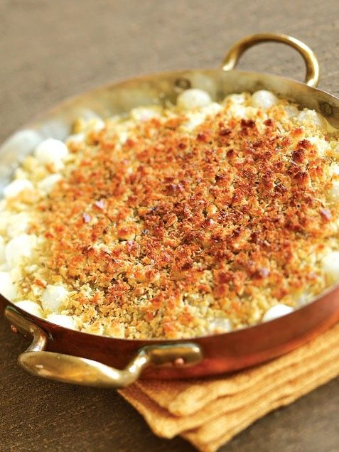 Pearl Onion Gratin with Parmesan, Savory & Thyme | Recipe