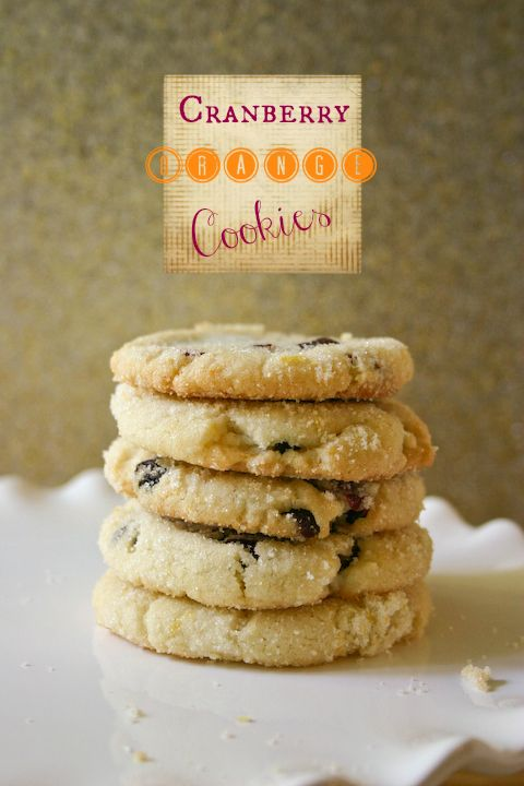 Cranberry Orange Cookies: Chewy, soft cookie rolled in sugar. just ...