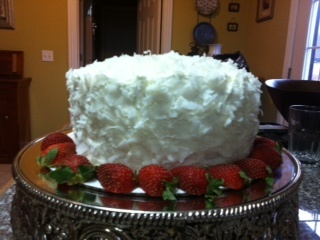 Fresh coconut mousse cake - 3 layers! | Food | Pinterest