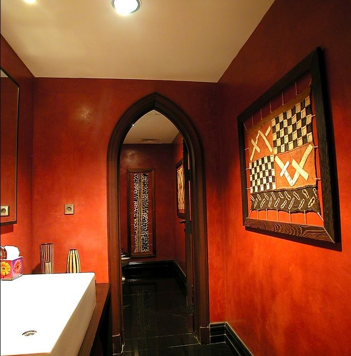 Sponge Painting Design Ideas For Bathroom ~ Maybe add some texture to the walls with sponge painting