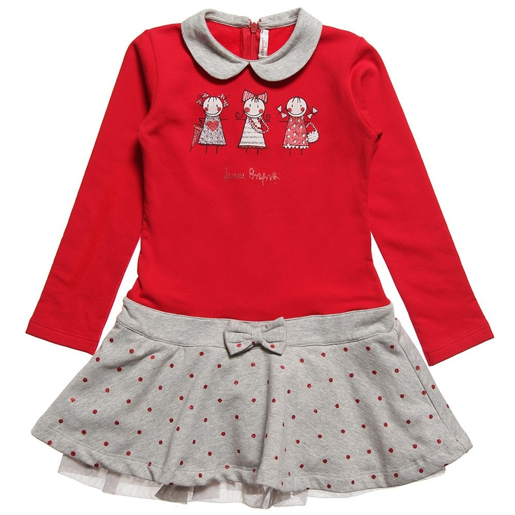 Red Jersey Dress with Diamante Details | Childrensalon