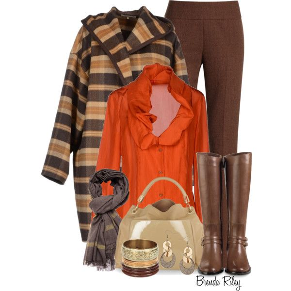 """Vivienne Westwood Orange Satin Blouse"" by brendariley-1 on Polyvore"