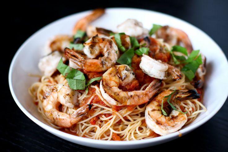 Shrimp Marinara with Angel Hair Pasta   Pasta Pizzazz   Pinterest