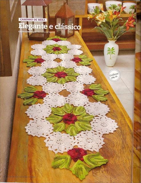Camino de mesa en crochet espectacular tejidos crochet for Camino de mesa a crochet