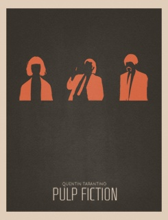 Pulp Fiction Minimalist Poster PULP FICTION