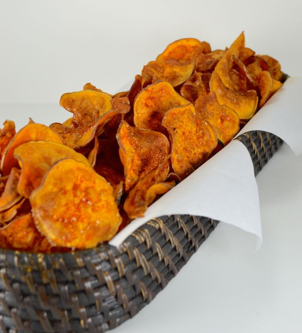BBQ Sweet Potato Chips | Yummy Appetizers | Pinterest