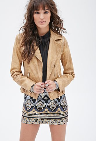 Forever 21 Faux Leather Convertible Jacket